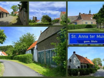 Heel bijzonder: vrijwel alle panden in het stadje of dorpje Sint Anna ter Muiden zijn rijksmonument. Je kijkt er dus je ogen uit. Zeer de moeite waard om er eens rond te wandelen. Collage Jan Dijkstra, Houten.