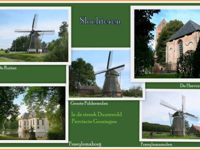Slochteren, collage van dorpsgezichten (© Jan Dijkstra, Houten)
