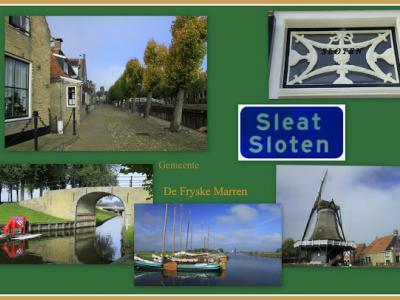 Sloten, collage van stadsgezichten (© Jan Dijkstra, Houten)
