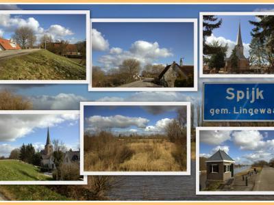 Spijk, collage van dorpsgezichten (© Jan Dijkstra, Houten)