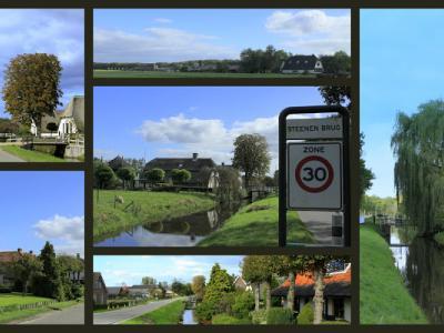 Steenen Brug, collage van buurtschapsgezichten (© Jan Dijkstra, Houten)