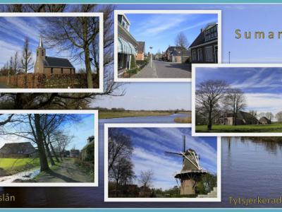 Sumar, collage van dorpsgezichten (© Jan Dijkstra, Houten)