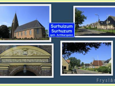 Surhuizum, collage van dorpsgezichten (© Jan Dijkstra, Houten)