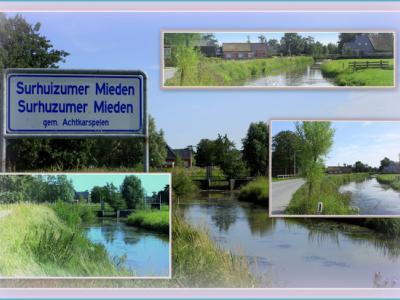 Surhuzumer Mieden, collage van buurtschapsgezichten (© Jan Dijkstra, Houten)