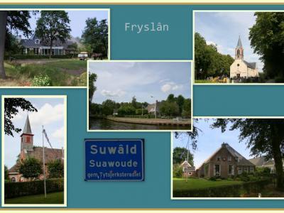 Suwâld, collage van dorpsgezichten (© Jan Dijkstra, Houten)