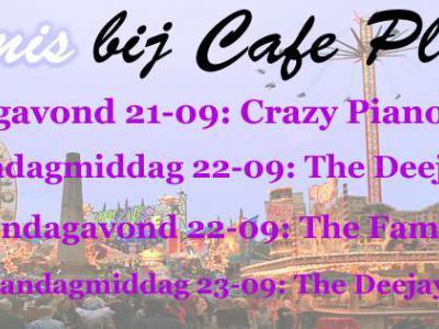 Tijdens de kermis in Swartbroek spelen het hele weekend diverse live bands in Café Plexat.