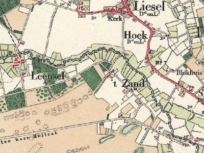 't Zand is een buurtschap in de provincie Noord-Brabant, in de regio Zuidoost-Brabant, en daarbinnen in de streek Peelland, gemeente Deurne. T/m 1996 gemeente Asten. (© www.kadaster.nl)
