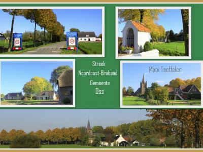 Teeffelen, collage van dorpsgezichten (© Jan Dijkstra, Houten)