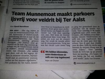 Sinds 2014 organiseert Team Munnemoat in Ter Aalst jaarlijks de nieuwjaarscross, wat goed aanslaat. Hier een interview in BN/De Stem t.g.v. de Nieuwjaarscross 2015.