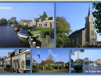 Terherne, collage van dorpsgezichten (© Jan Dijkstra, Houten)
