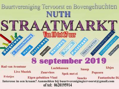 De jaarlijkse Straatmarkt van 'Tervoorst en Bovengehuchten' (op een zondag in september) is naar eigen zeggen 'de gezelligste jaarmarkt van Nuth'.