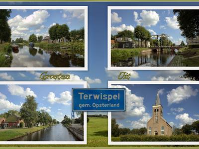 Terwispel, collage van dorpsgezichten (© Jan Dijkstra, Houten)