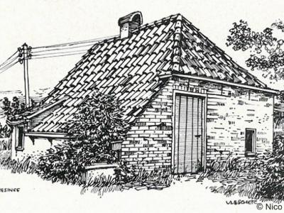 Thesinge, landarbeidershuisje anno 1962