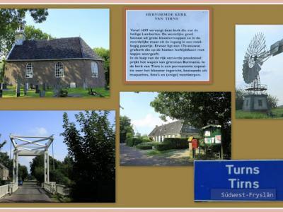 Tirns, collage van dorpsgezichten (© Jan Dijkstra, Houten)