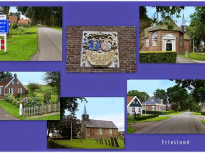 Tjalleberd, collage van dorpsgezichten (© Jan Dijkstra, Houten)