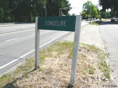De gemeenten die in 1920 in de gemeente Eindhoven zijn opgegaan, en in de loop der jaren tot stadsdelen zijn getransformeerd, zijn ter plekke nog herkenbaar middels groene naambordjes. Zo ook Tongelre. Mooi!