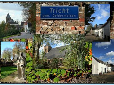 Tricht, collage van dorpsgezichten (© Jan Dijkstra, Houten)