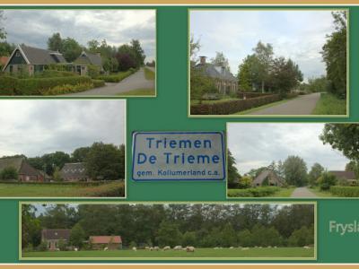 Triemen, collage van dorpsgezichten (© Jan Dijkstra, Houten)