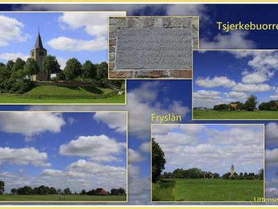 Tsjerkebuorren, collage van buurtschapsgezichten (© Jan Dijkstra, Houten)