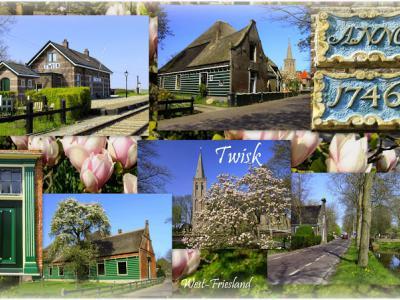 Twisk, collage van dorpsgezichten (© Jan Dijkstra, Houten)