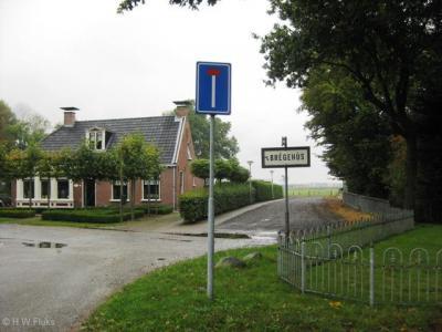 In het W hoekje van Ureterp aan de Vaart léék dit een buurtschapsbordje (in 2009), maar het bleek het bordje van buurthuis 't Brêgehûs (van Buurtvereniging Rounom de Griene Brêge), dat achter dit pand staat. Het bordje staat er inmiddels niet meer.