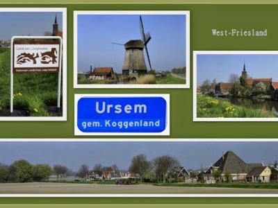 Ursem, collage van dorpsgezichten (© Jan Dijkstra, Houten)
