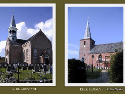 Op Terschelling kun je diverse prachtige, oude kerkjes vinden, waaronder deze in Hoorn en Midsland.