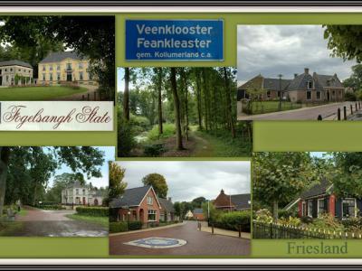 Veenklooster, collage van dorpsgezichten (© Jan Dijkstra, Houten)