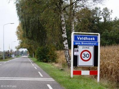 Veldhoek is een buurtschap in de provincie Gelderland, in de streek Achterhoek, in deels gemeente Bronckhorst (t/m 2004 gemeente Hengelo), deels gemeente Berkelland (t/m 2004 gemeente Ruurlo).