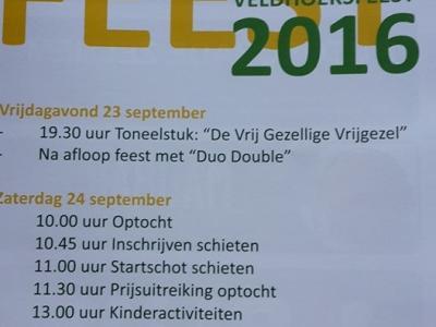 Hét evenement van het jaar in de Hengelose en Ruurlose buurtschap Veldhoek is het Veldhoeksfeest (weekend in september) met allerlei sport- en spelactiviteiten en 's avonds liveoptredens. In 2019 is het voor de 100e keer, dus dan is het extra groot feest!