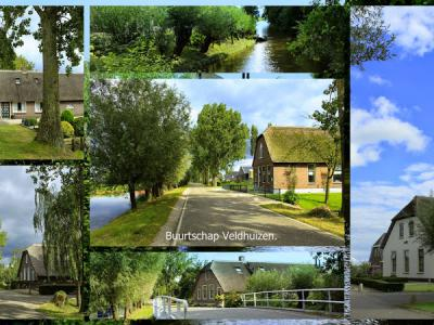 Veldhuizen, collage van buurtschapsgezichten (© Jan Dijkstra, Houten)