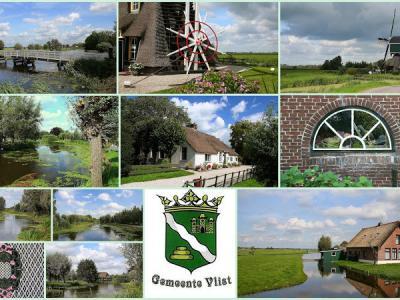 Vlist, collage van dorpsgezichten (© Jan Dijkstra, Houten)
