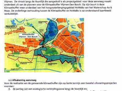 In 2012 is een 'natuurvriendelijke oever' aangelegd langs de Voordijk en de parallel daaraan lopende Buitendijkse Loop, als ecologische verbindingszone die deel uitmaakt van het grotere geheel van de Klimaatbuffer Vlijmen-Den Bosch. (© Staatsbosbeheer)