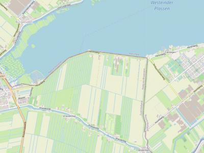 De buurtschap Vriezekoop ligt rond de gelijknamige weg, O van de dorpskern van Leimuiden, en grenst in het N aan de Westeinderplassen en in het O aan buurtschap Bilderdam, buurtschap Calslagen en het dorp Kudelstaart. (© www.openstreetmap.org)