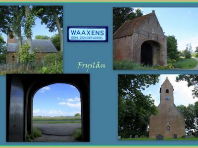 Waaxens, collage van dorpsgezichten (© Jan Dijkstra, Houten)