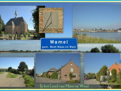Wamel, collage van dorpsgezichten (© Jan Dijkstra, Houten)