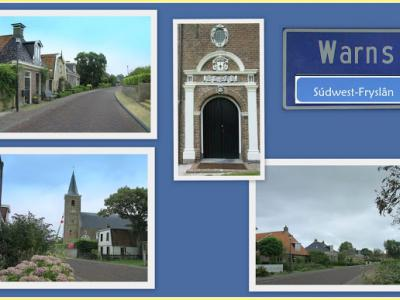 Warns, collage van dorpsgezichten (© Jan Dijkstra, Houten)