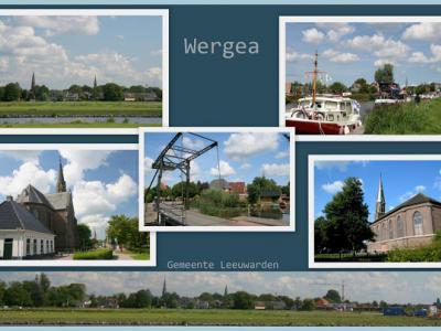 Wergea, collage van dorpsgezichten (© Jan Dijkstra, Houten)