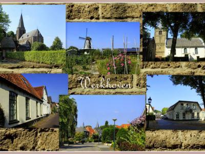 Werkhoven, collage van dorpsgezichten (© Jan Dijkstra, Houten)