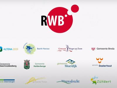 De 16 gemeenten in West-Brabant plus de Zeeuwse gemeente Tholen werken samen in het samenwerkingsverband Regio West-Brabant (RWB), omdat een aantal thema's het beste in regionaal verband gecoördineerd kan worden opgepakt. (© Regio West-Brabant)