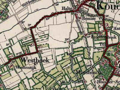 Westhoek is een buurtschap in de provincie Zeeland, in de streek Walcheren, gemeente Veere. T/m 30-6-1966 gemeente Koudekerke. Per 1-7-1966 over naar gemeente Valkenisse, in 1997 over naar gemeente Veere. De plaatsnaam verschijnt vanaf ca. 1900 op kaarten
