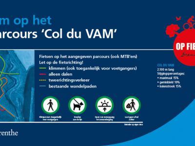 In oktober 2018 is in Wijster op een deel van de stortplaats de Col du VAM gerealiseerd. Met een lengte van in totaal ruim 2 km en stijgingspercentages van 10 tot 15 procent is het een uitdaging voor wielrenners en mountainbikers.