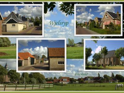 Wjelsryp, collage van dorpsgezichten (© Jan Dijkstra, Houten)