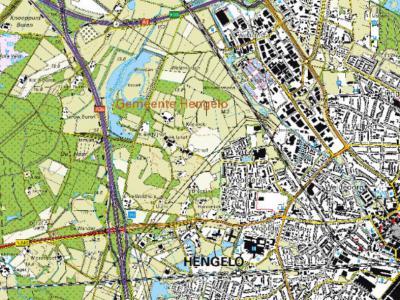 CBS-wijk 07 Woolde omvat de buurten Woolde, Woolderes, Weidedorp en bedrijventerrein Westermaat. Daarnaast is er nog een statistische wijk 09 'Beckum en buitengebieden', met o.a. een buurt 'verspreide huizen Woolde'. (© Kadaster)