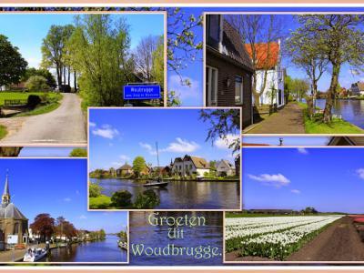 Woubrugge, collage van dorpsgezichten (© Jan Dijkstra, Houten)