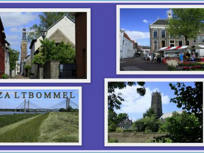 Zaltbommel, collage van stadsgezichten (© Jan Dijkstra, Houten)