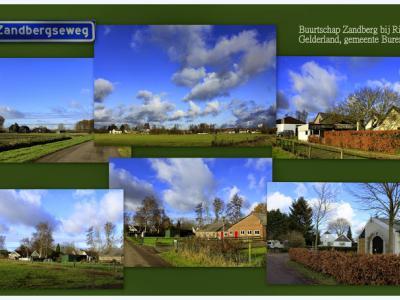 Zandberg, collage van buurtschapsgezichten (© Jan Dijkstra, Houten)