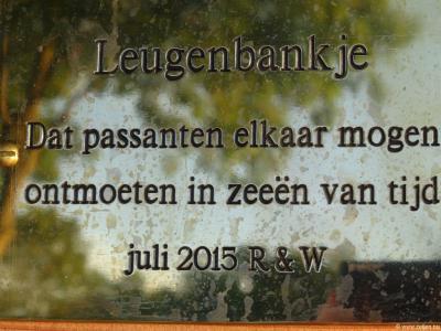 Sinds 2015 heeft de buurtschap Zeijerveld zijn eigen 'leugenbankje'