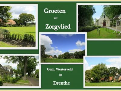 Zorgvlied, collage van dorpsgezichten (© Jan Dijkstra, Houten)