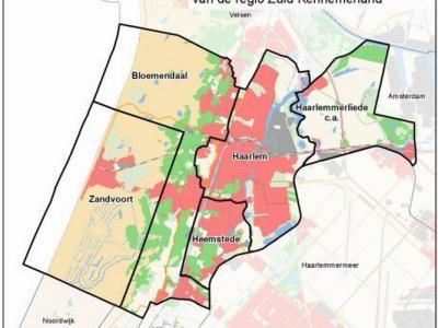 Zuid-Kennemerland omvat de gemeenten Bloemendaal, Haarlem, Heemstede en Zandvoort. Ook de gemeente Haarlemmerliede en Spaarnwoude viel er nog onder (althans qua bestuurlijk samenwerkingsverband), maar die is in 2019 opgegaan in de gemeente Haarlemmermeer.